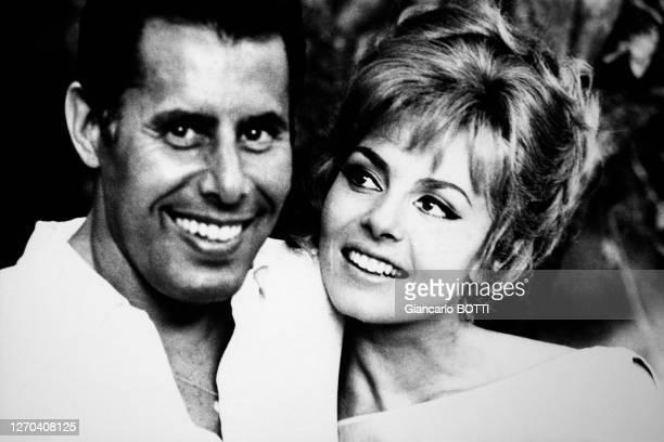 Claude Bourillot et Michèle Mercier en 1967 à Rome, Italie