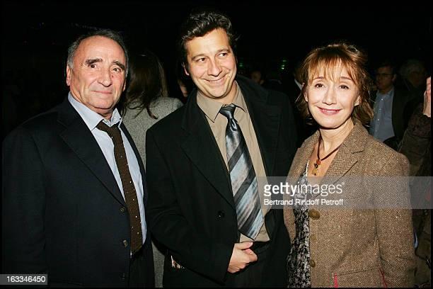 Claude Brasseur Laurent Gerra and Marie Anne Chazel at Film Premiere Of Fauteuil D'Orchestre At L' Ugc Normandie In Paris
