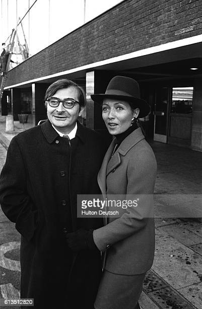 Claude Chabrol French film director and wife Stephane Audran
