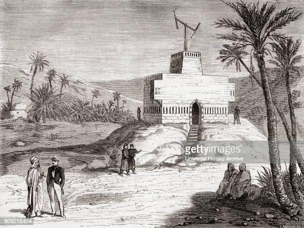Claude Chappe's telegraph system in use in Algeria c.1840. From Les Merveilles de la Science, published c.1870