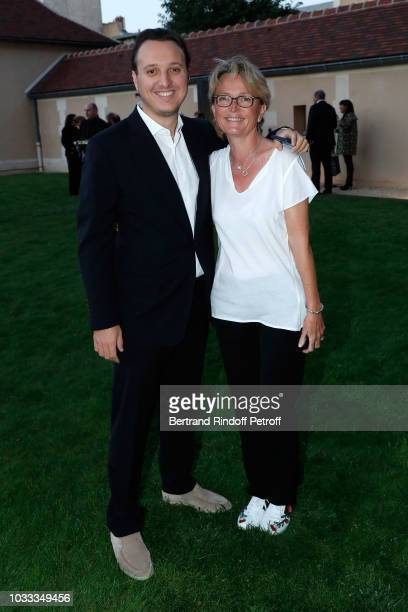Claude Chirac and her son Martin RayChirac attend the Kering Heritage Days Opening Night at 40 Rue de Sevres on September 14 2018 in Paris France