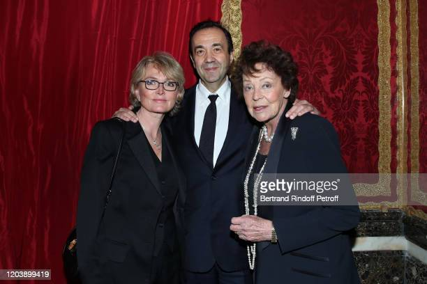 Claude Chirac Frederic SalatBaroux and Lise Toubon attend the 20th Gala Evening of the Paris Charter Against Cancer for the benefit of the...