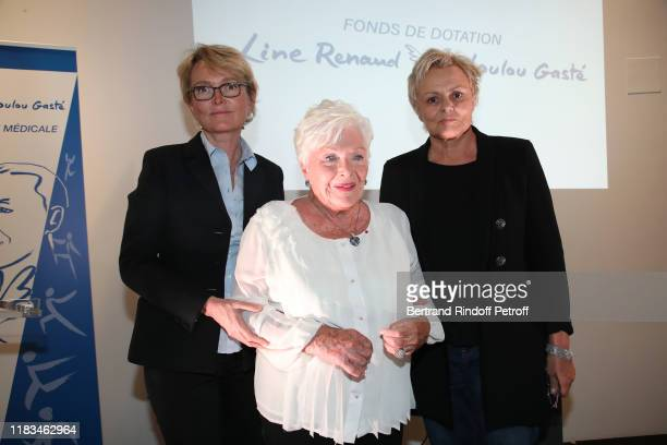Claude Chirac Line Renaud and Muriel Robin attend the first Line Renaud Loulou Gaste Award for Medical Research at Maison de la Recherche on October...