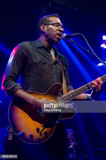 Claude Coleman Jr of Amandla performs at Tipitina's on February 1 2017 in New Orleans Louisiana