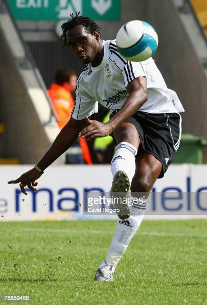 Claude Davis of Derby County pictured during the pre season friendly match between Mansfield Town and Derby County at Field Mill on July 28, 2007 in...