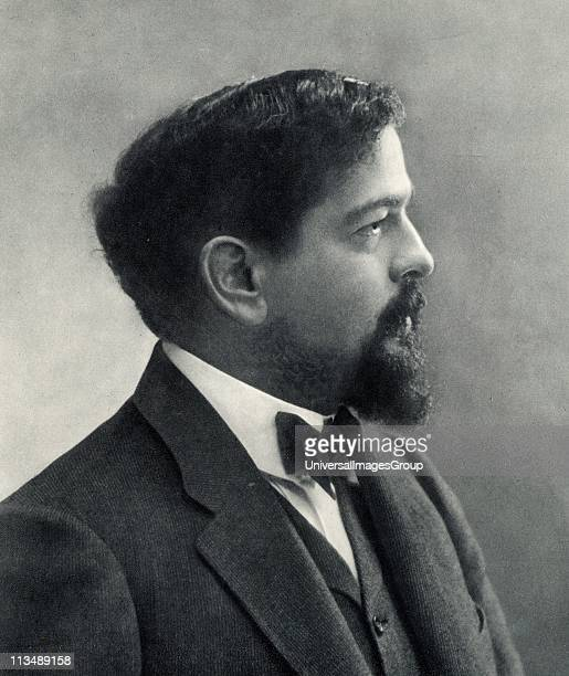 Claude Debussy French composer. From a photograph by Nadar, pseudonym of Gaspard-Felix Tournachon .