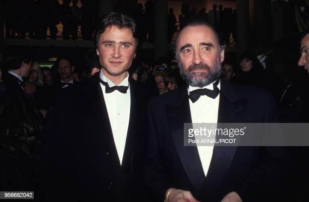 Claude et Alexandre Brasseur lors de la cérémonie des Césars à Paris en mars 1993 à France