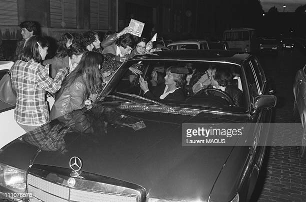 Claude Francois with fans in TV Show 'Samedi est a vous' in Paris France on november 16th 1976