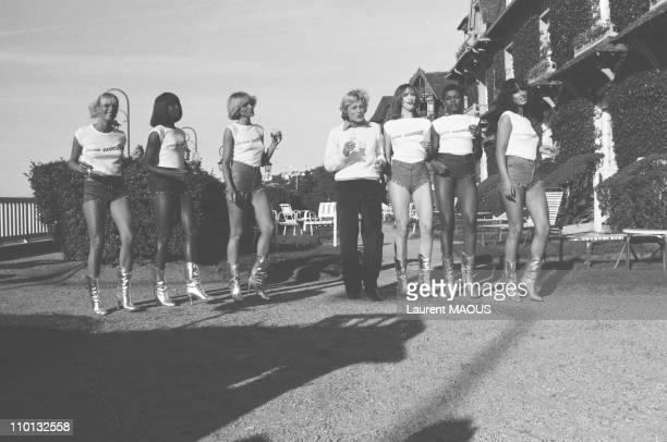 Claude Francois with Les Flechettes at Deauville Festival in France on September 6 1979