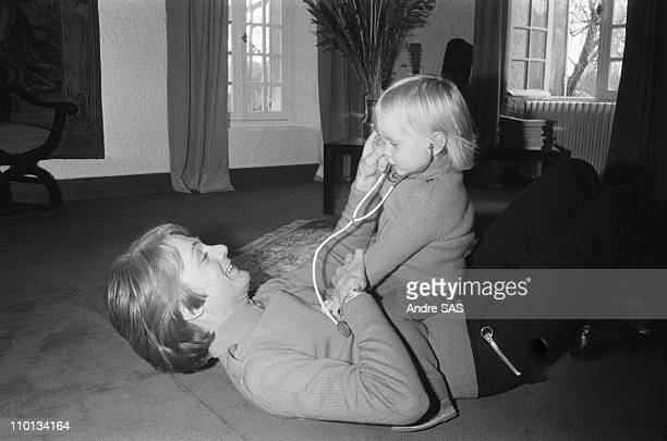 Claude Francois with son at home in France in 1970