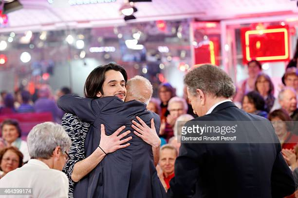 Claude Fugain Alexis Fugain Singer Michel Fugain and Michel Drucker attend the 'Vivement Dimanche' French TV Show at Pavillon Gabriel on February 25...