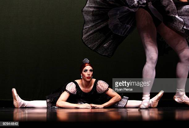 Claude Gamba performs on stage during the press call for Les Ballets Trockadero de Monte Carlo at the Theatre Royal on November 10 2009 in Sydney...