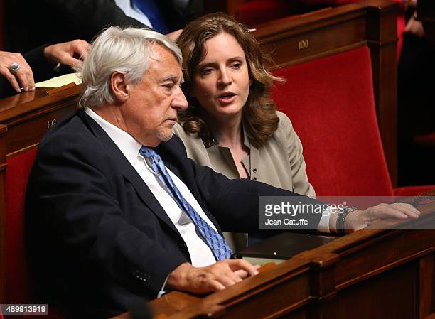 Claude Goasguen and MP Nathalie KosciuskoMorizet aka NKM participate at the Questions to the Government at the French National Assembly on May 7 2014...