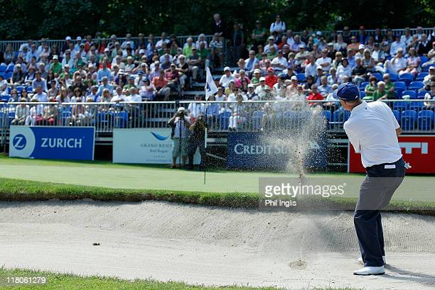 Claude Grenier of Austria in action during the final round of the Bad Ragaz PGA Seniors Open played at Golf Club Bad Ragaz on July 3, 2011 in Bad...