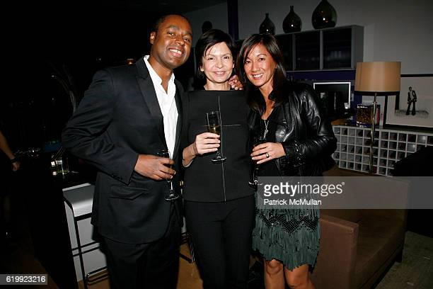 Claude Grunitzky Christine De Lassus and Pascal attend CHARLOTTE SARKOZY hosts cocktails in honor of BARBARA BUI at Private Residence on October 30...