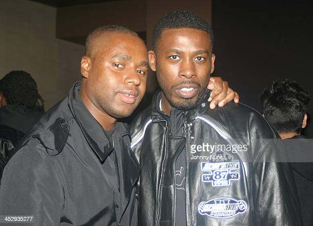 Claude Grunitzky of Trace Magazine and Gza during Rza and Trace Magazine Host Kill Bill Vol 2 Private Screening at Tribeca Screening Room in New York...