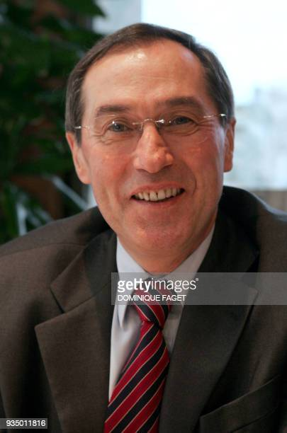 Claude Gueant head of cabinet of Nicolas Sarkozy right wing party Union for a Popular Movement candidate for France's presidential election poses 17...