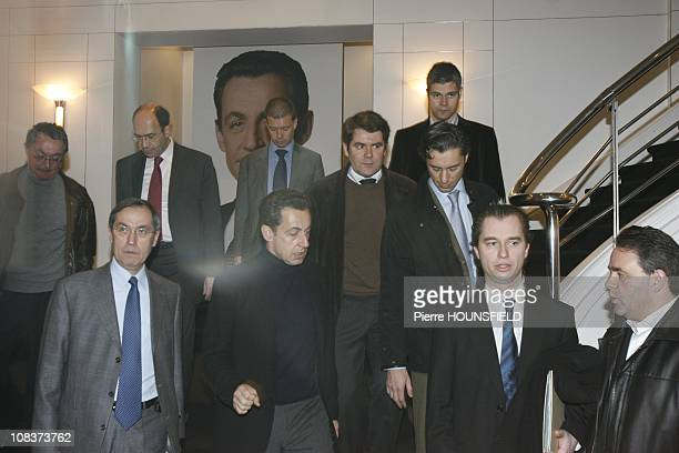 Claude Gueant Nicolas Sarkozy Franck Louvrier Laurent Solly David Martinon David Martinon JeanMichel Goudard Eric Woerth and Laurent Wauquiez in...