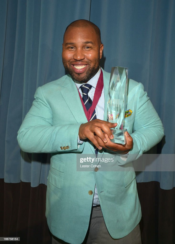 Claude Kelly, Co-BMI Songwriter of the Year award recipient, pauses for a photo at the 2013 BMI Pop Awards at the Beverly Wilshire Four Seasons Hotel on May 14, 2013 in Beverly Hills, California.