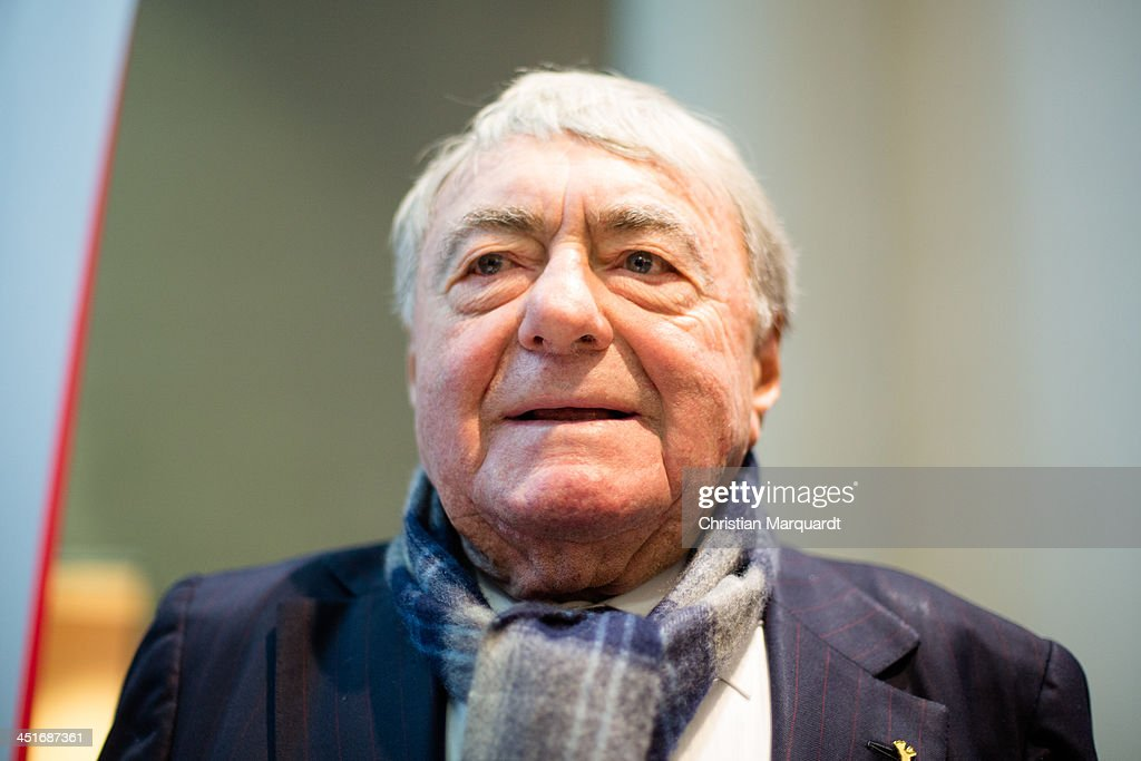 Claude Lanzmann poses during the 'Claude Lanzmann Photocall' on November 24, 2013 in Berlin, Germany.
