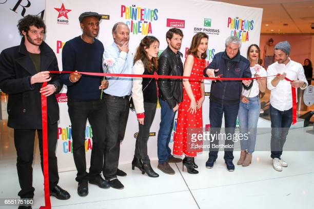 Claude Lelouch Abd Al Malik Alice Belaidi Pierre Deladonchamps Anais Demoustier Hippolyte Girardot Guillaume Gouix and Felix Moati attend the...