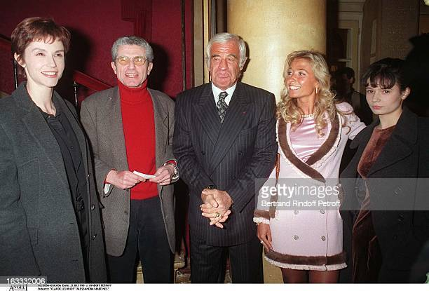 Claude Lelouch Alessandra Martines Salome Lelouch Paul Belmondo Natty Belmondo at theParis Theatre Production Of Le Mari La Femme Et L'Amant