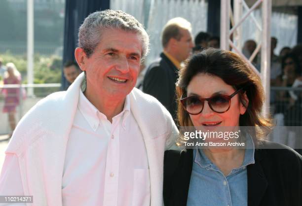 Claude Lelouch and Anouck Aime during 30th Deauville American Film Festival 'The Woodsman' Premiere at CID in Deauville France