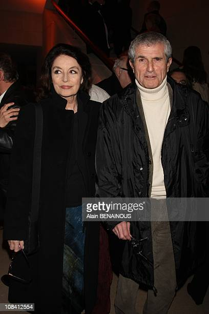 Claude Lelouch and Anouk Aimee in Paris France on March 11th 2008