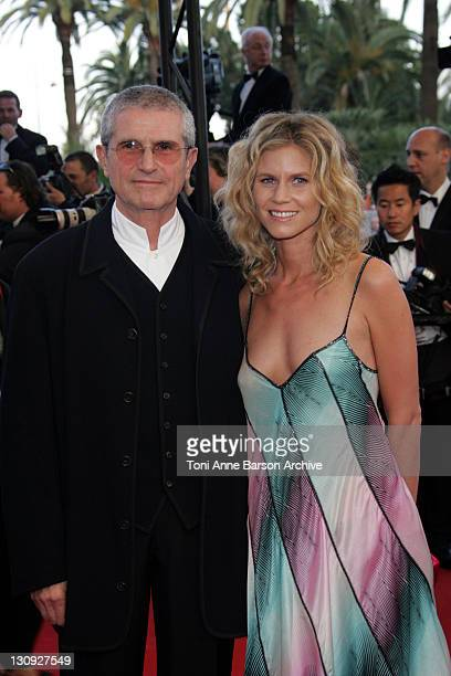 Claude Lelouch and Christine Lelouch during 2005 Cannes Film Festival Joyeaux Noel Premiere at Palais de Festival in Cannes France