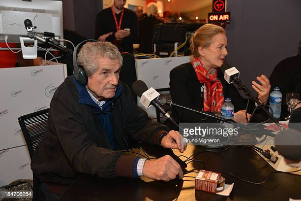 Claude Lelouch and Dominique Sanda attend the 5th Lyon Film Festival. In the radio on October 15, 2013 in Lyon, France.
