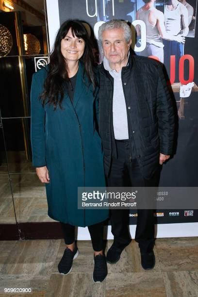 Claude Lelouch and his companion Valerie Perrin attend the 'Un Poyo Rojo' Theater Play celebrates its 10th Anniversary at Theatre Antoine on May 17...