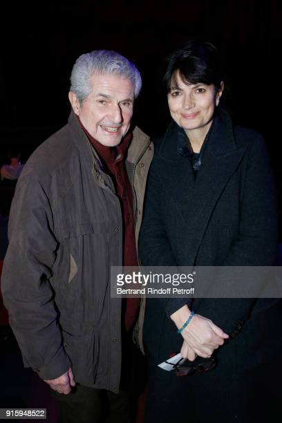 Claude Lelouch and Valerie Perrin attend the Alex Lutz One Man Show At L'Olympia on February 8 2018 in Paris France