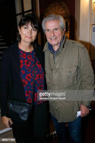 Claude Lelouch and Valerie Perrin attend the 'Ramses II' Theater Play at Theatre des Bouffes Parisiens on October 23 2017 in Paris France