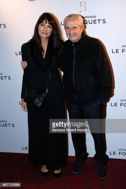 Claude Lelouch and Valerie Perrin attend the Reopening of the Barriere Hotel 'The Fouquet's' decorated by Jacques Garcia at Hotel Barriere Le...