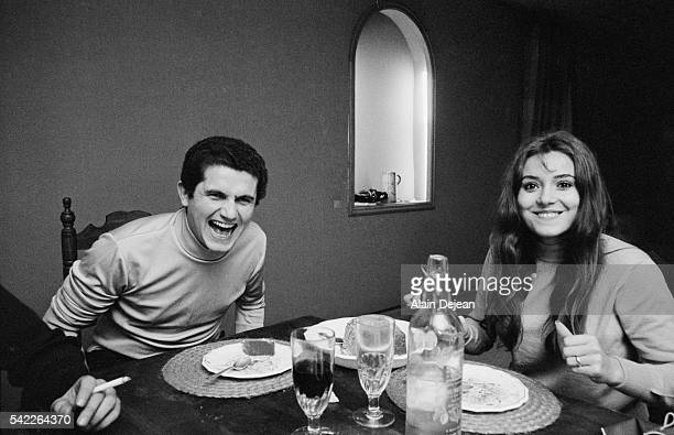 Claude Lelouch and Wife Christine Cochet Eating