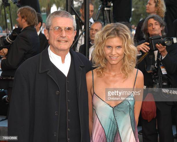 Claude Lelouch and wife Christine Lelouch