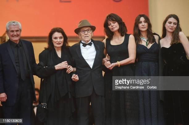 Claude Lelouch Anouck Aimee Jean Louis Trintignant Marianne Denicourt Monica Bellucci and Tess Lauvergne attend the screening of Les Plus Belles...