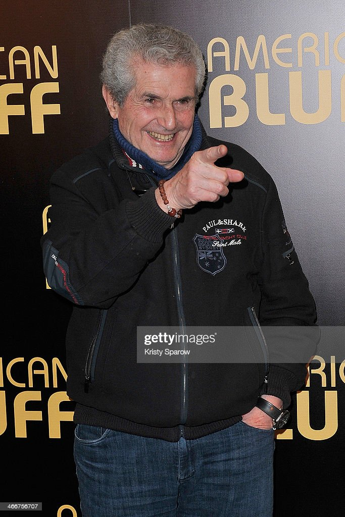 Claude Lelouch attends the 'American Bluff' Paris Premiere at Cinema UGC Normandie on February 3, 2014 in Paris, France.