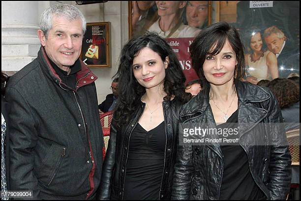 Claude Lelouch daughter Salome Lelouch and Evelyne Bouix at L'Eloignement By Loleh Bellon At Theatre Edouard VII