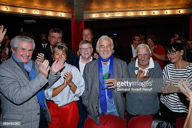 Claude Lelouch David Douillet President of 'Mimi Foundation' Myriam Ullens de Schooten Michel Leeb CEO of Beautysane Sylvain Bonnet Actors JeanPaul...