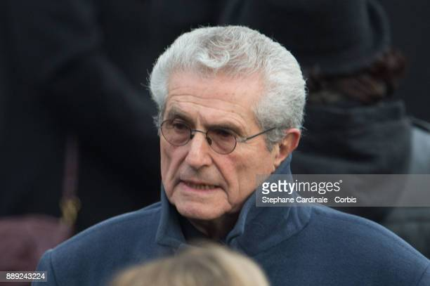 Claude Lelouch during Johnny Hallyday's Funeral Procession at Eglise De La Madeleine on December 9 2017 in Paris France France pays tribute to Johnny...