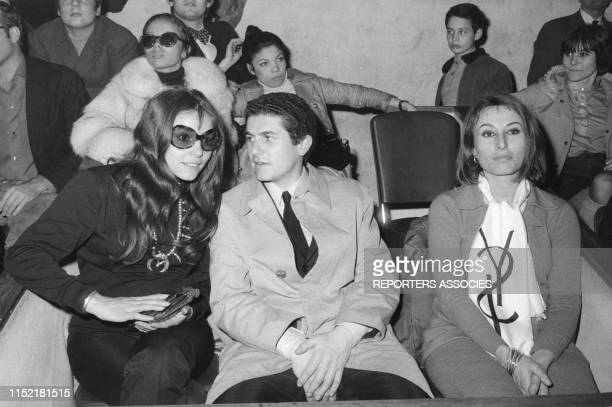 Claude Lelouch et sa femme Christine à Paris en 1970 France