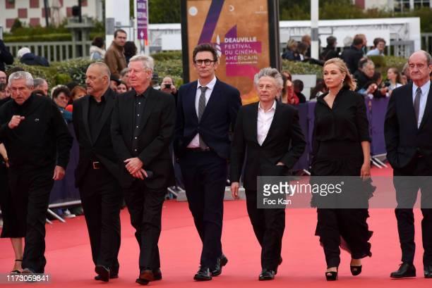 Claude Lelouch, Jean Pierre Jeunet, Regis Wargnier, director Michel Hazanavicius, Roman Polanski, actress Emmanuelle Beart and Pierre Lescure attend...