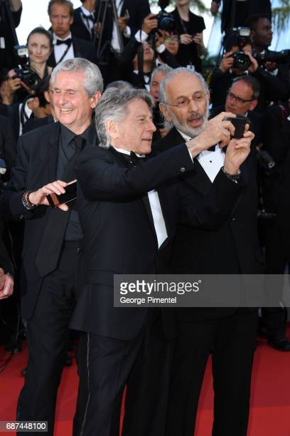 Claude Lelouch Roman Polanski and Jerry Schatzberg attends the 70th Anniversary screening during the 70th annual Cannes Film Festival at Palais des...