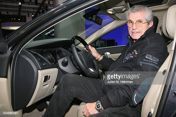 Claude Lelouchi attends the Renault presentation of the Cannes Film Festival Official Car 'Latitude' during the 2010 Paris motor show at the Parc des...