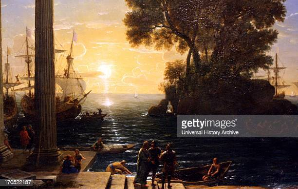 Claude Lorrain French artist 'The Embarkation of St Paul' 1655 Oil on silver plated copper St Paul is about to board a boat for Rome where he faces...