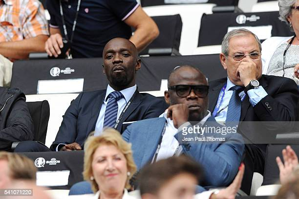 Claude Makelele and Basile Boli during the UEFA EURO 2016 Group F match between Iceland and Hungary at Stade Velodrome on June 18 2016 in Marseille...