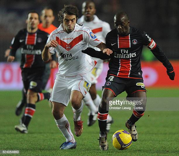 Claude Makelele during the French Ligue 1 soccer match between Paris Saint Germain and Valenciennes FC