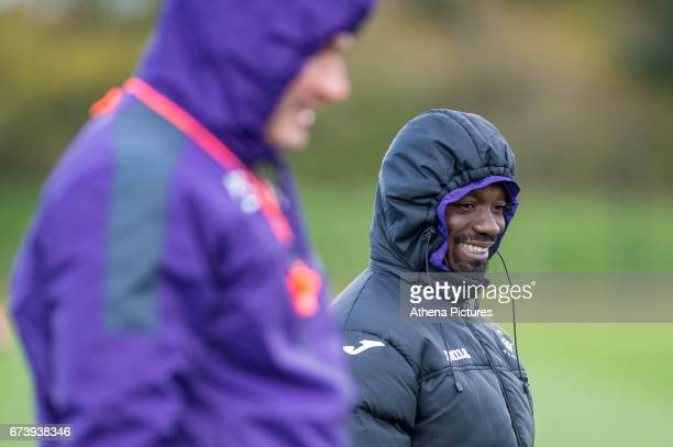Claude Makelele during the Swansea City training session at The Fairwood training Ground on November 16 2016 in Swansea Wales