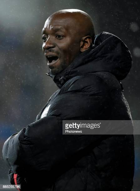 Claude Makelele Head Coach of Eupen pictured during the Jupiler Pro League match between Kas Eupen and Club Brugge on December 03 2017 in Brugge...